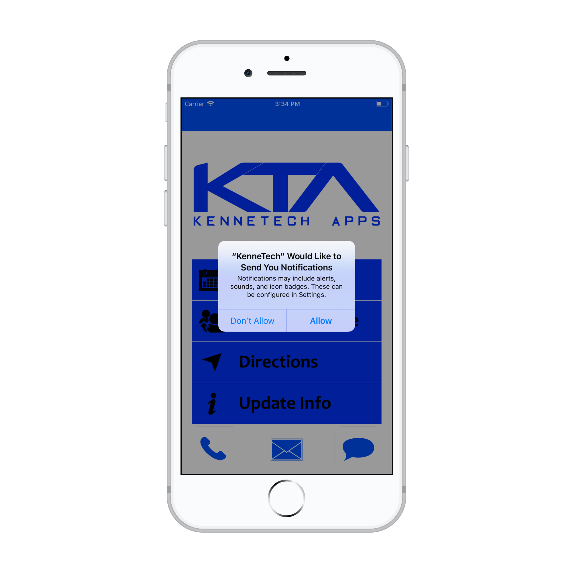 These images are examples of our app; your app will be customized to your business