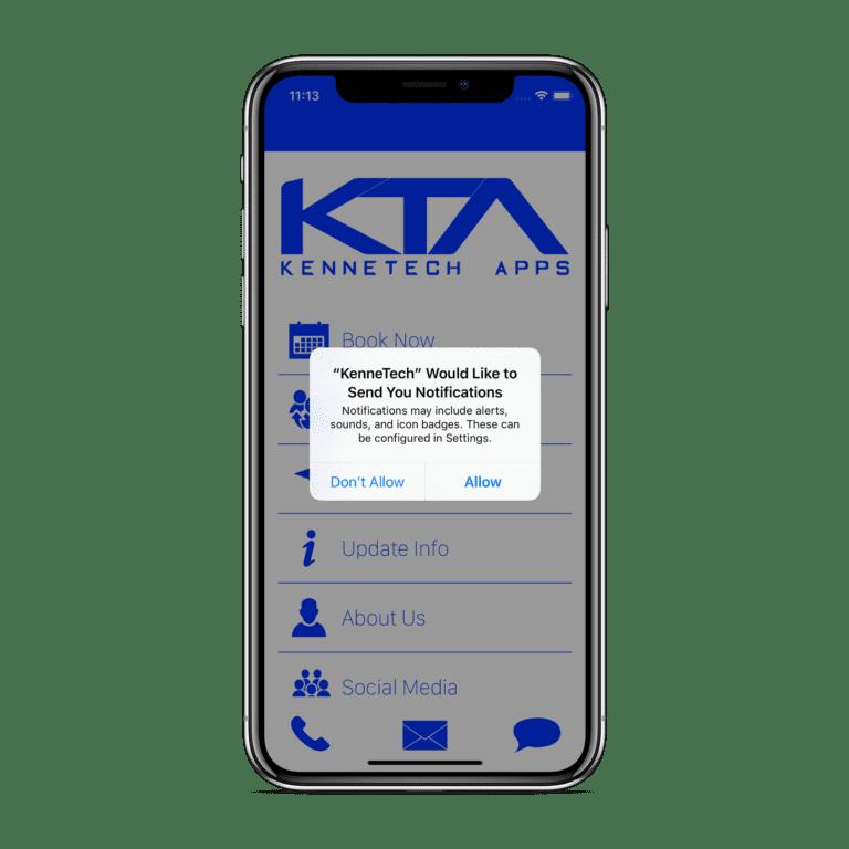 iOS notifications X